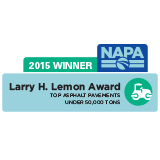2015 Larry H. Lemon Quality in Construction Award ~ National Asphalt Pavement Association